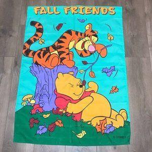 Winnie the Pooh Fall Friends Flag decor